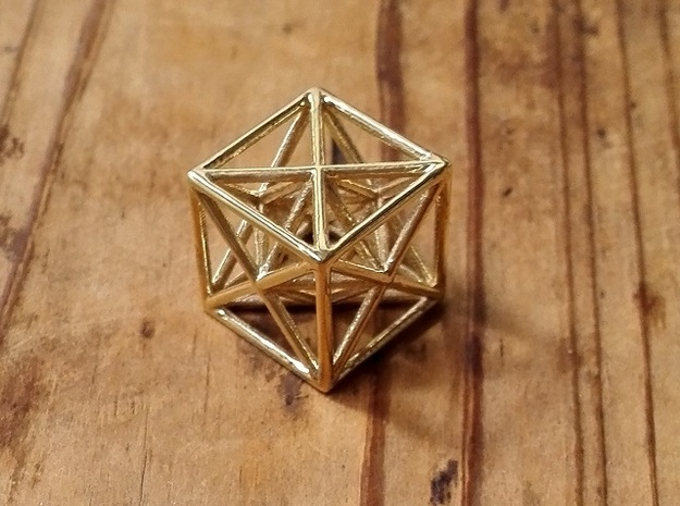 Metatron's Cube in Polished Brass