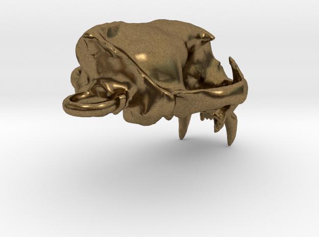 Cougar skull pendant 3d printed