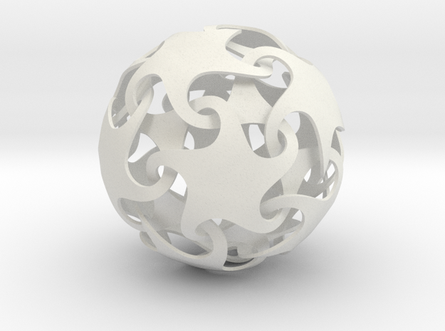 Dodecatron - Starfish ball (thin) 3d printed