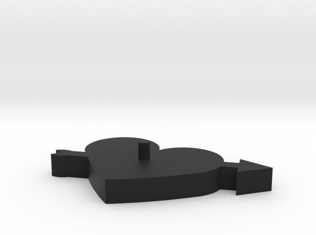 Arrow Heart Cookie Cutter in Black Natural Versatile Plastic