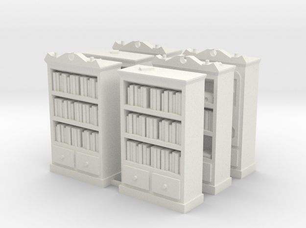 Mansions of Madness: Bookcase Barricades in White Strong & Flexible