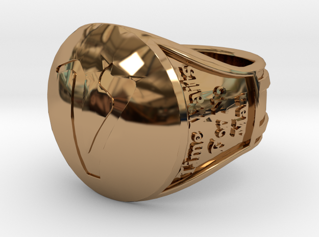 Voyagers Ring CUSTOM ENGRAVING Size 12.5 21.89 mm in Polished Brass