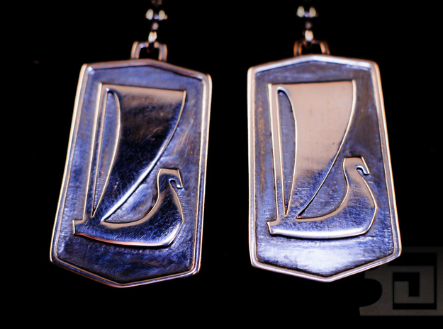 Lada Earrings 3d printed Silver Polished