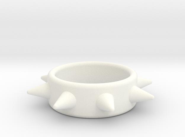 Cring-8 Spike 34-15 in White Processed Versatile Plastic