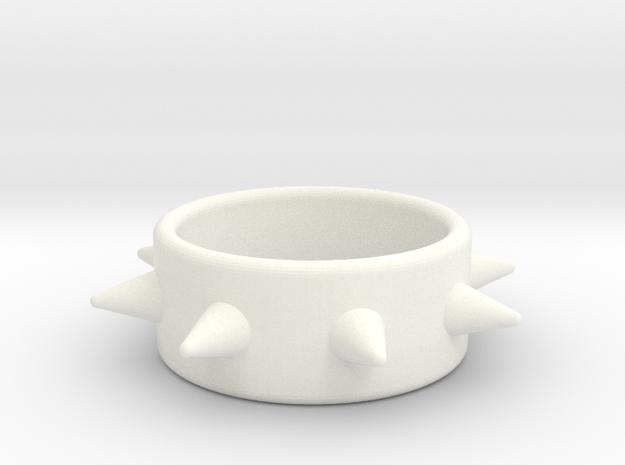 Cring-8 Spike 40-20 in White Processed Versatile Plastic