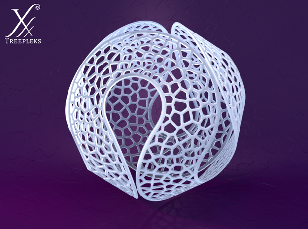 Spherocircles 3d printed Frosted translucent material (Cycle render).