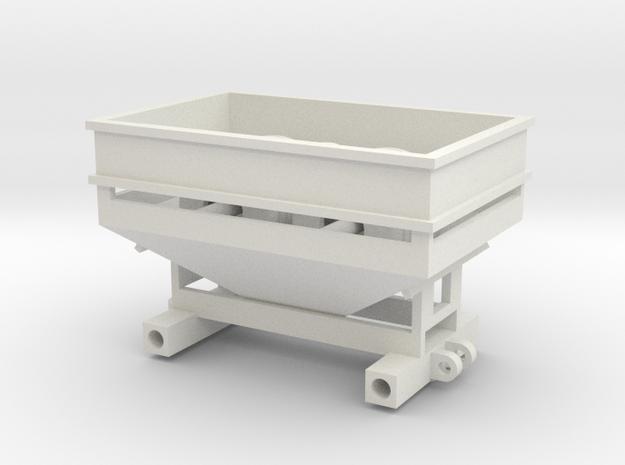 Center Dump Gravity Wagon 275 Bu. in White Natural Versatile Plastic