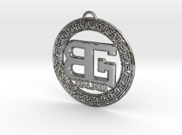 BOSS GANG MEDALLION in Polished Silver
