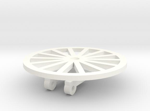 TIle Stringer Wheel in White Strong & Flexible Polished