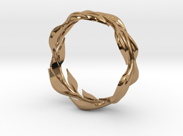Vine Band, Size 9 in Polished Brass