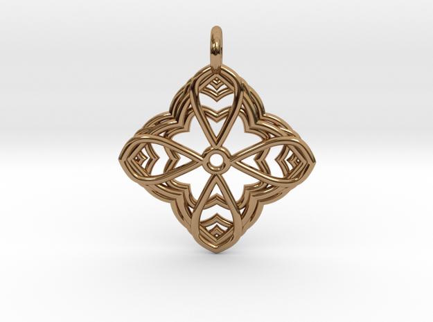 Mandala Pendant 2 in Polished Brass