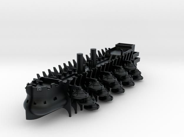 1/1000 Royal Reserve Trireme in Black Hi-Def Acrylate