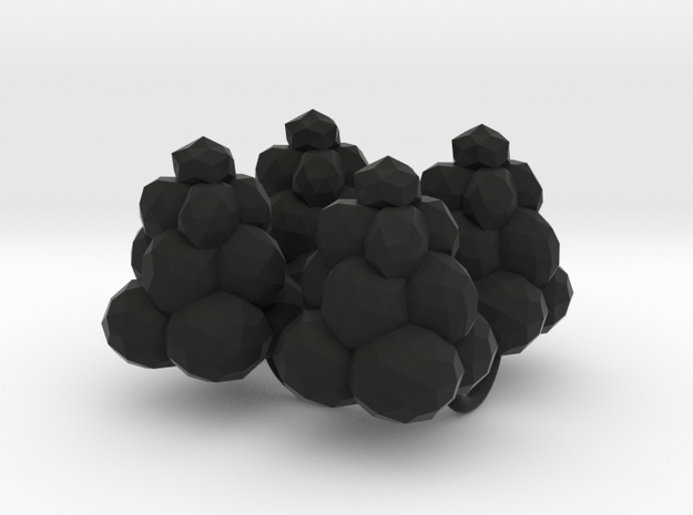 Power Grid Coal Piles - Set of 4 in Black Natural Versatile Plastic
