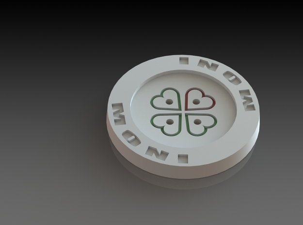 Large Shirt Button in White Acrylic