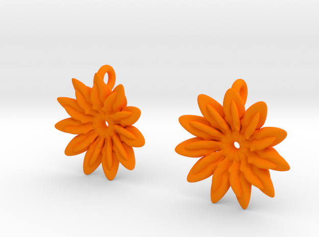 Paddles 11 Points Earrings - wLoopet 3d printed