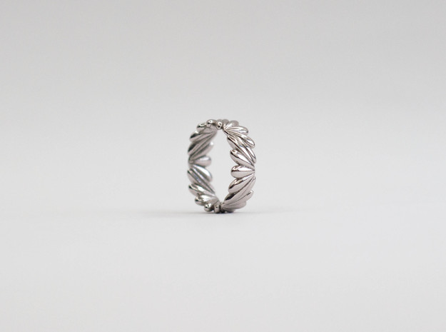 Drops Ring | 3 sizes in Rhodium Plated Brass: 6 / 51.5