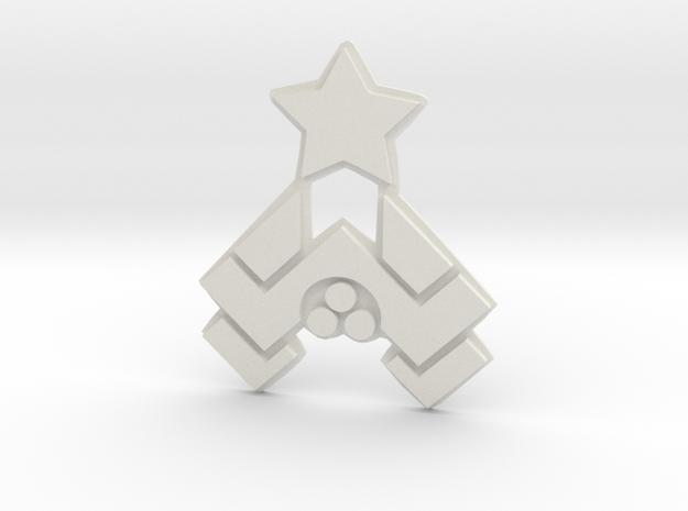 Nakatomi Badge in White Strong & Flexible