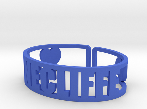 Pinecliffe Cuff in Blue Processed Versatile Plastic