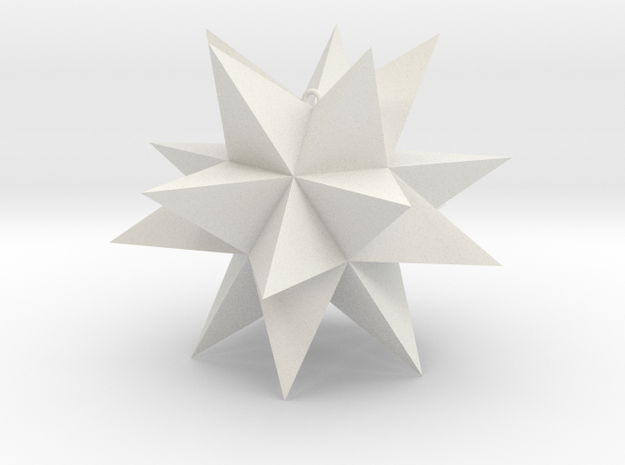 Spikey Stellation 2.8 in White Strong & Flexible