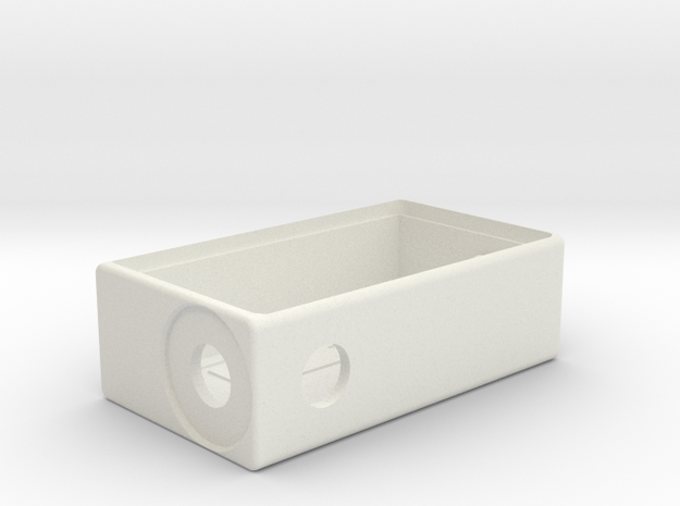 TalyMod Bottom Feeder Mechanical mod.(Round firebu in White Natural Versatile Plastic