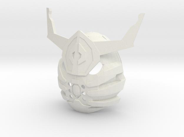 Gundam Barbados Themed Mask in White Natural Versatile Plastic