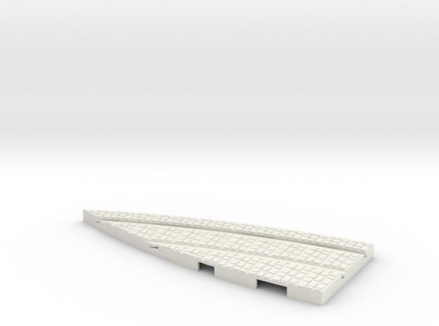 P-165stw-y-junction-curve-250r-part1-1a in White Natural Versatile Plastic