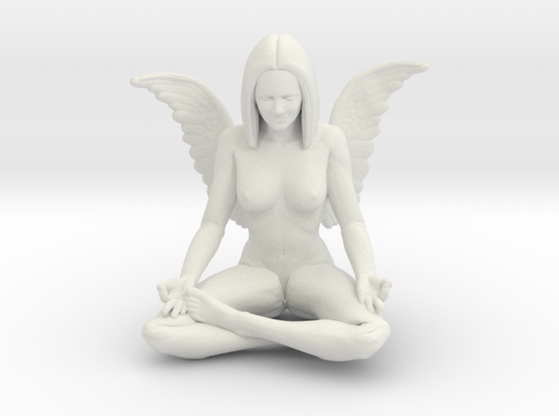 60mm Angel.STL in White Natural Versatile Plastic