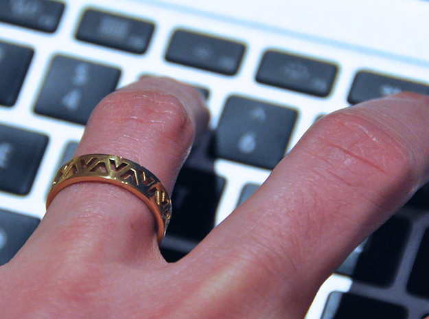 24 Caret Gold Ring (63mm) 3d printed