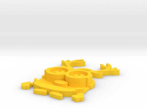 Bob-reindeer in Yellow Processed Versatile Plastic