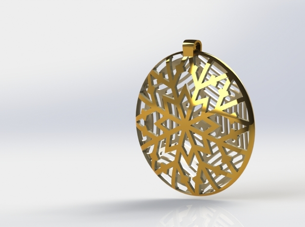 Snownecklace in Polished Gold Steel