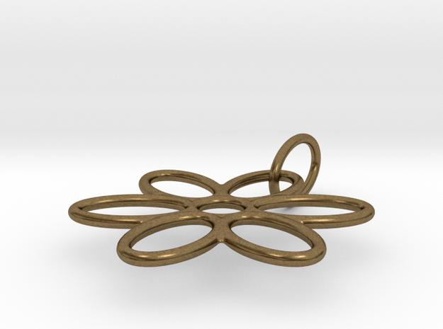 Flower Pendant Wire in Natural Bronze (Interlocking Parts)