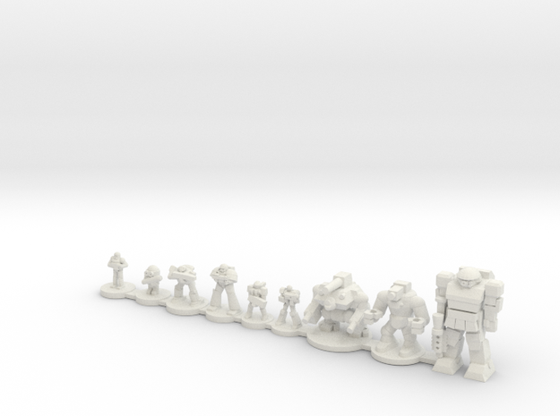 Infantry compare in White Natural Versatile Plastic