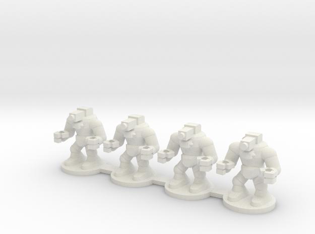 Orc War Robot in White Natural Versatile Plastic