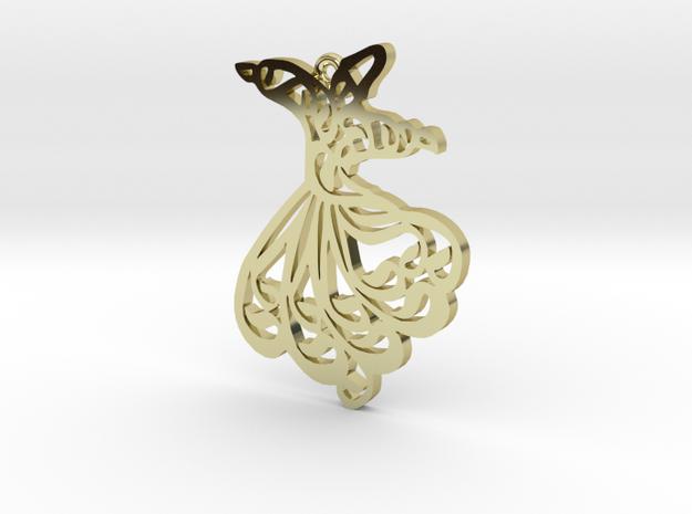 Mevlana Pendant in 18k Gold