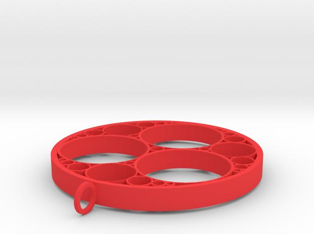 Apollonian pendant in Red Processed Versatile Plastic