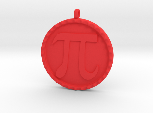 Pi(e) in Red Processed Versatile Plastic