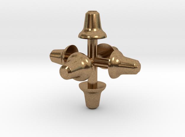 Glocken (6 x 2,3 mm) in Natural Brass