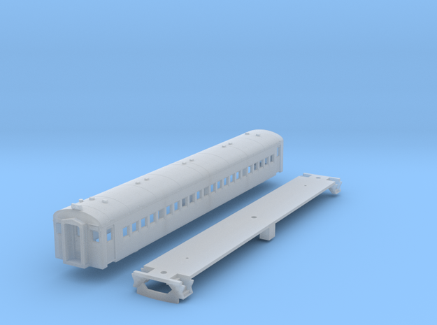 N Scale CN CCF MU Trailer Car Body Kit in Smooth Fine Detail Plastic