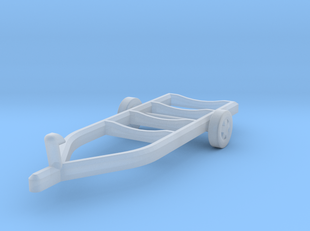 Z-Scale Boat Trailer in Smooth Fine Detail Plastic