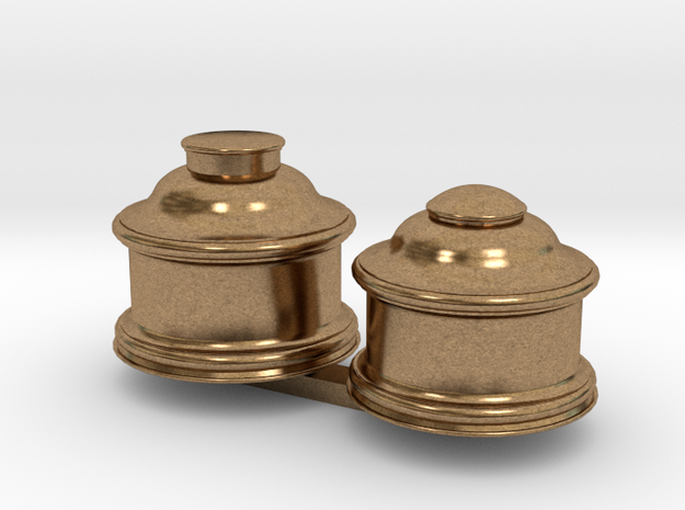 Upgrade Baldwin Domes for Bachmann 4-4-0 in Natural Brass: 1:87 - HO
