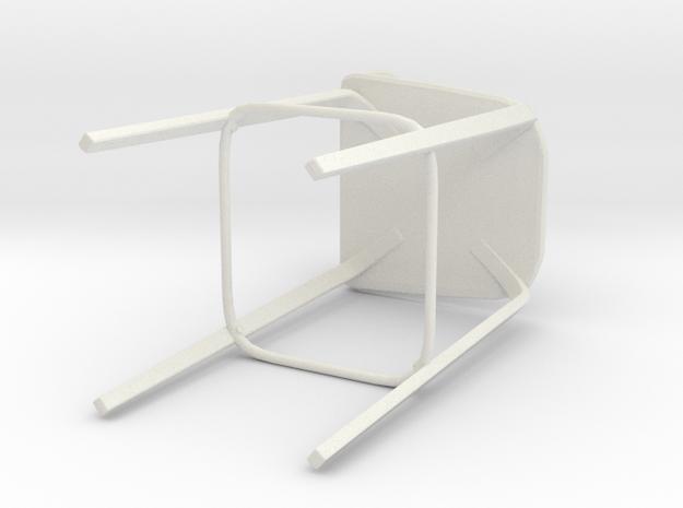 Muuto Visu Bar Stool in White Natural Versatile Plastic: Extra Small