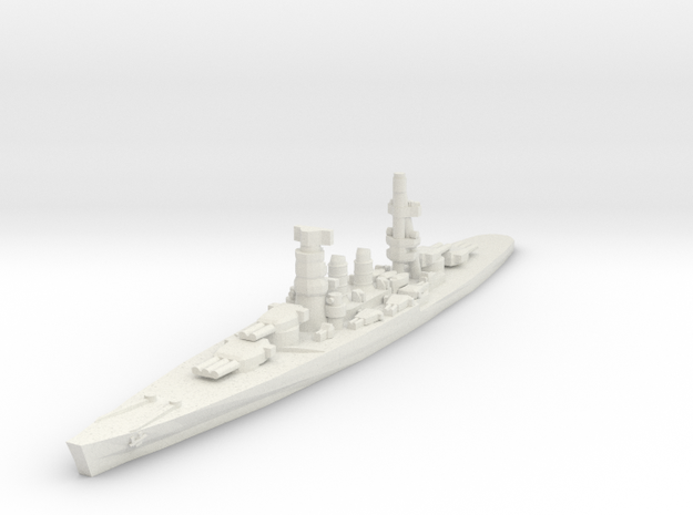 Conte di Cavour battleship 1/2400 in White Natural Versatile Plastic