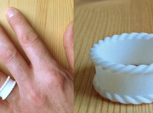 Braidsel   Men   size 10 3d printed This is a prototype in printed in white plastic.