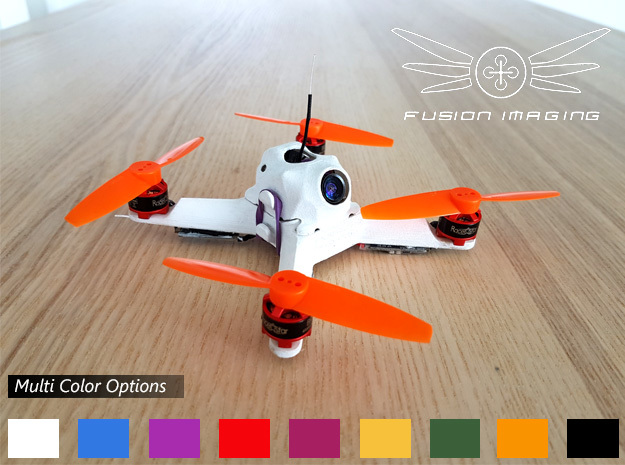 Canopy (1mm) for Fusion Micro FPV Frame in White Processed Versatile Plastic