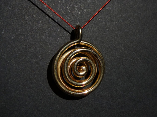 Double Spiral 3d printed Double Spiral printed in polished brass