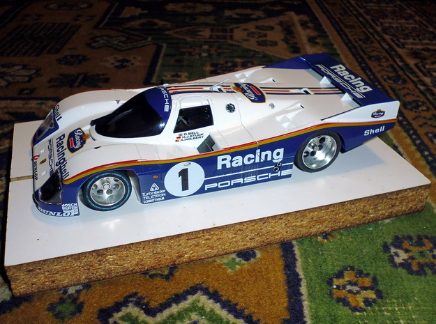 Slot car chassis for 962 CLH 1/28