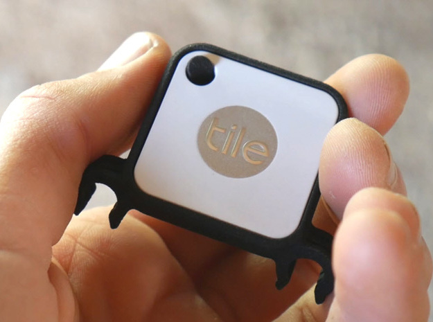 Tile Mate Stealth Bike Tracker (Clip) in Black Natural Versatile Plastic