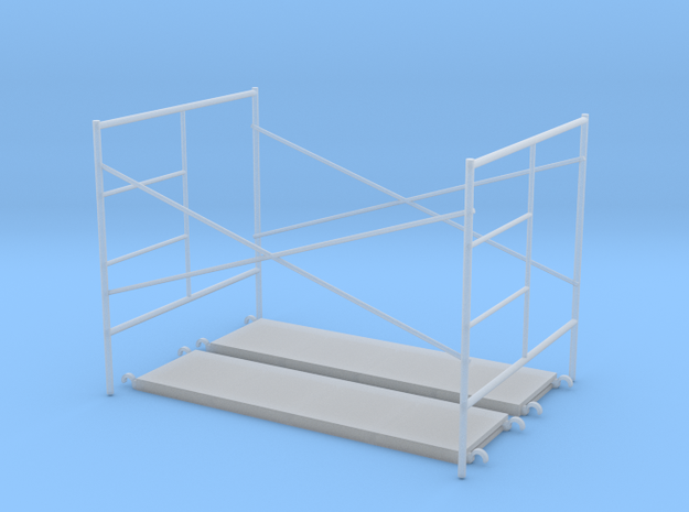 1:48 Step Frame Assembly 60x84x60 With Walkboards in Smooth Fine Detail Plastic