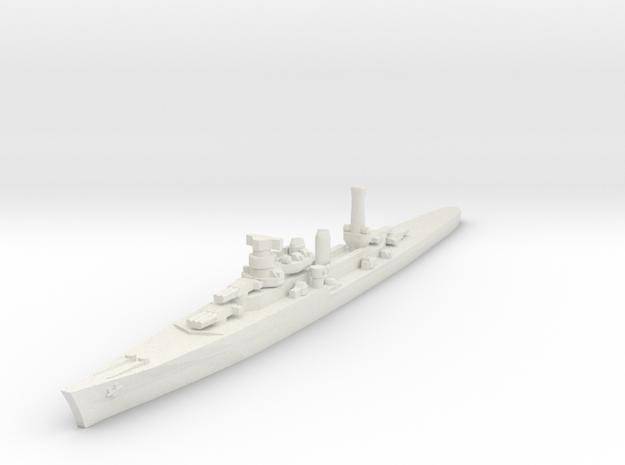 Duca degli Abruzzi class light cruiser 1/1800 in White Natural Versatile Plastic