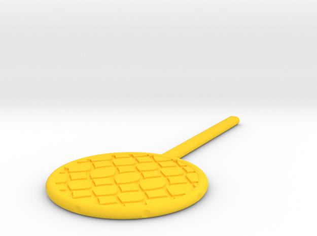 Large DIY Fishing Net Paddle Trick in Yellow Processed Versatile Plastic